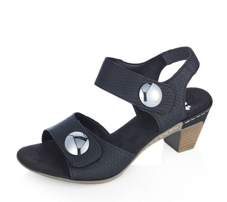 Rieker Button Detail Heeled Sandal