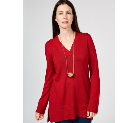 MarlaWynne Rib Detail V-Neck Jumper