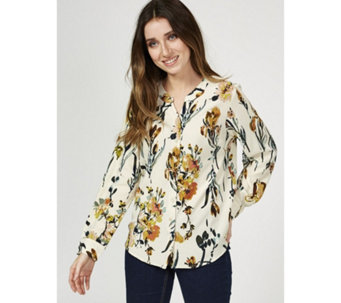 c07473075f4d20 Denim   Co Stretch Crepe Floral Print Shirt - 176100