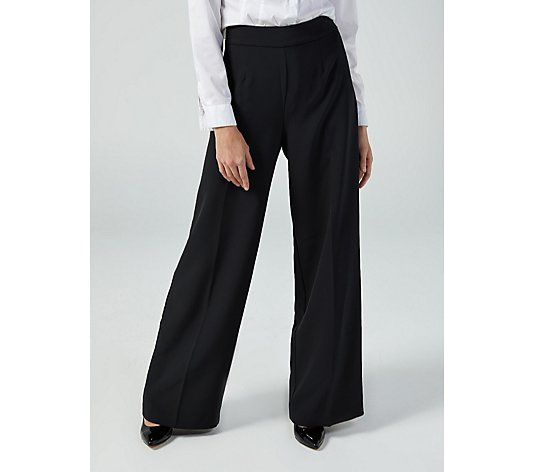 Ruth Langsford Classic Flat Front Wide Leg Trousers Tall