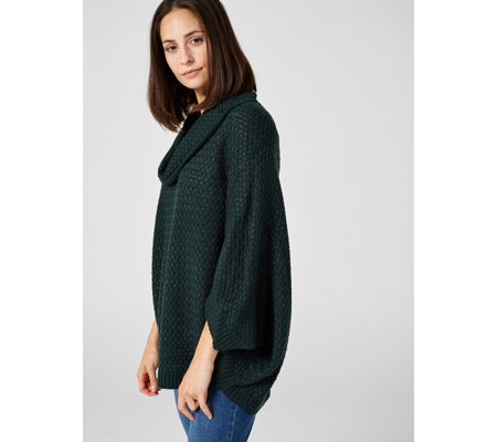 Draped Cowl Neck High Low Hem Jumper by Nina Leonard