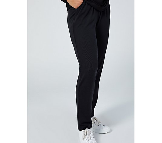 Denim & Co. Heavenly Jersey Straight Leg Trousers