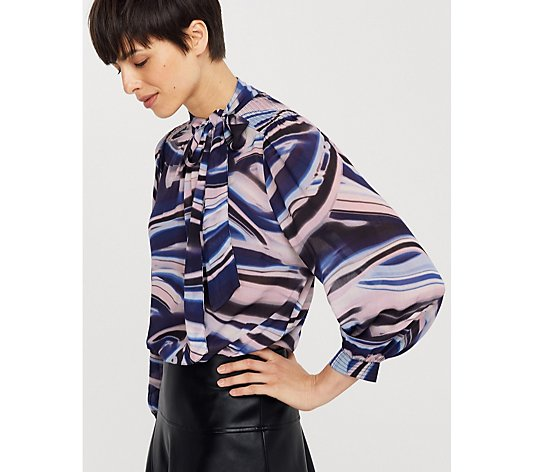 Outlet Monsoon Mabel Marble Print Blouse