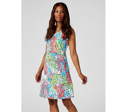 Ronni Nicole Sleeveless Knee Length Printed Dress