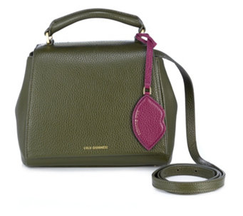 Lulu Guinness Small Rita Soft Grain Leather Crossbody Bag with Lip Charm - 159601
