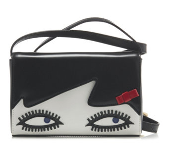 Lulu Guinness Edna Doll Face Leather Crossbody Bag - 160701