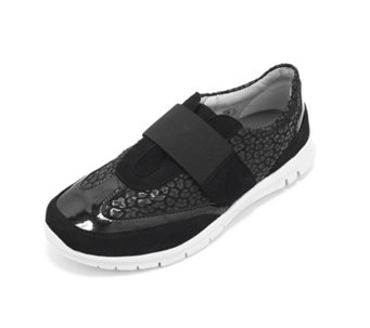 Vitaform Stretch and Velvet Goat Leather Trainer - 164401
