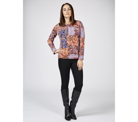 Artscapes Printed Long Sleeve Top