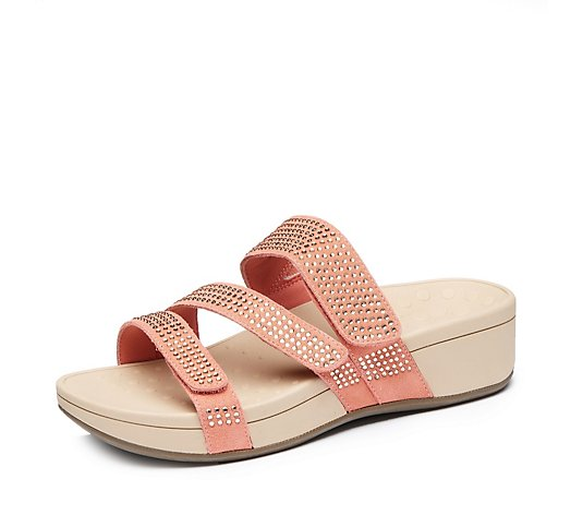 Vionic Orthotic Alexis Suede Sandal FMT Technology