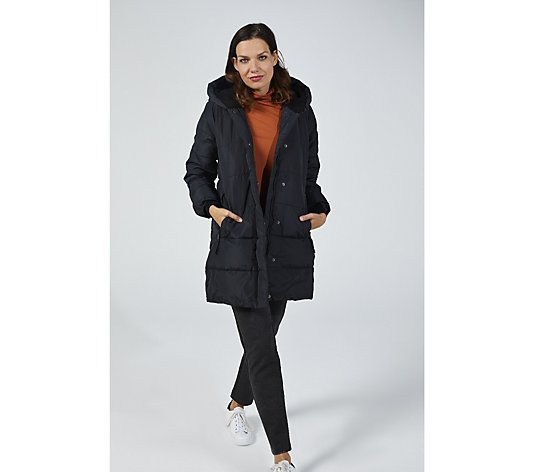 Centigrade Faux Down Longline Padded Coat