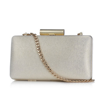 Claudia Canova Shimmer Clutch Bag with Detachable Chain - 164802