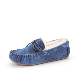 Emu Nest Collection Amitry Distress Denim Look Sheepskin Slippers - 165702
