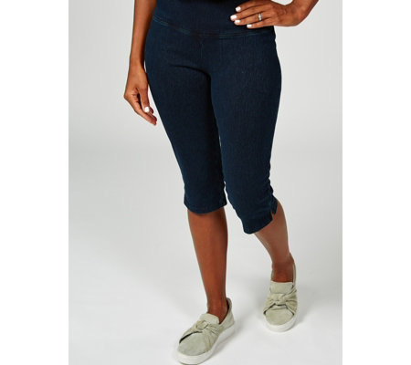 Women with Control Tummy Control Denim Pedal Pushers Regular