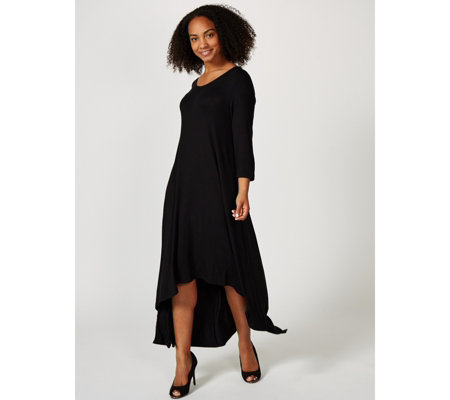 Join Clothes Jersey 3/4 Sleeve High Low Dress