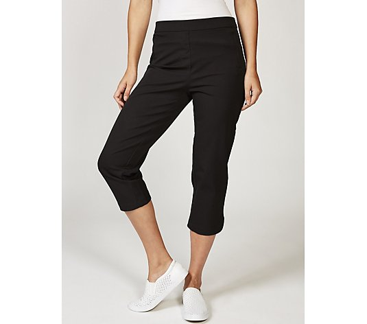 Isaac Mizrahi Live 24/7 Stretch Cropped Pull On Trousers, Regular