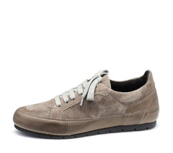 Manas Lace Up Leather and Suede Sneaker - 168203