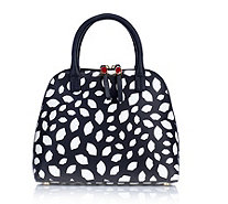 Lulu Guinness Bobbi Small Leather Grab Bag with Crossbody Strap - 168803