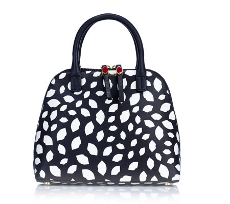 Lulu Guinness Bobbi Small Leather Grab Bag With Crossbody Strap