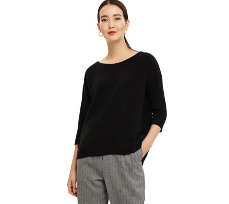 Phase Eight Ottoman Stitch 3/4 Sleeve Top