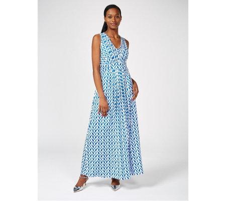 5933cbc93b3f Outlet Together Geo Print Maxi Dress - QVC UK