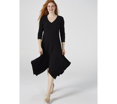 Antthony Designs Bias Seamed 3/4 Sleeve Dress