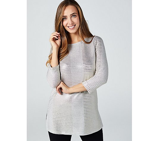 Mr Max Ribbed Foil Knit Top