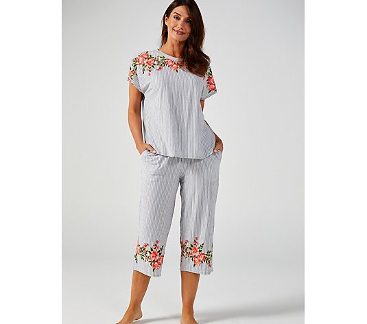 Cuddl Duds Cotton Touch Dolman Tunic Culottes Set