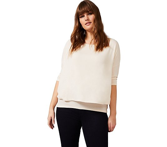 Studio 8 By Phase Eight Double Layer Round Neck Top