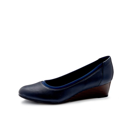 Clarks Mallory Berry Wedge Court Shoe