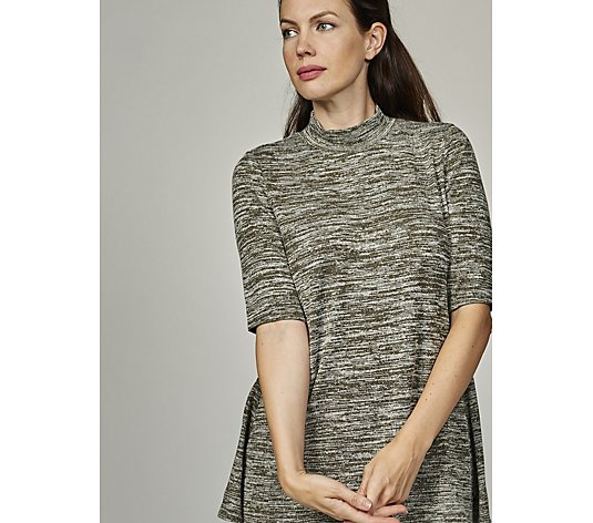 The Lisa Rinna Collection Mock Neck Knit Tunic