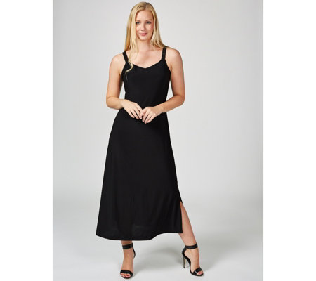 Coco Bianco Sleeveless Maxi Dress with Side Vents