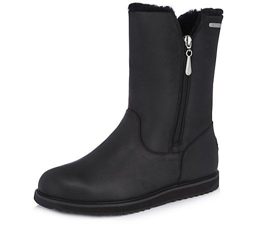 Outlet Emu All Weather Gravelly Leather Zip Boot