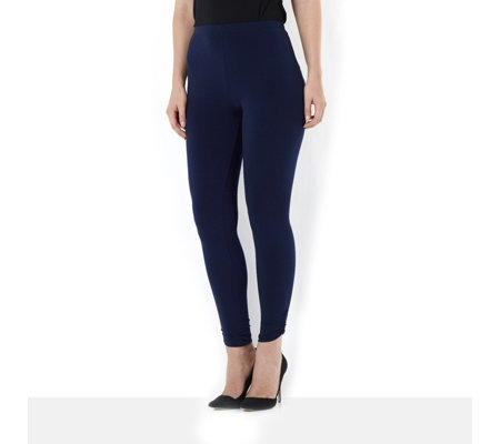 Kim & Co Brazil Jersey Full Length Legging with Ruching