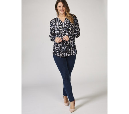 Together Crotchet Shoulder Printed Crinkle Shirt