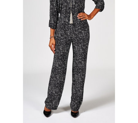 Antthony Designs Pull On Stretch Knit Trousers