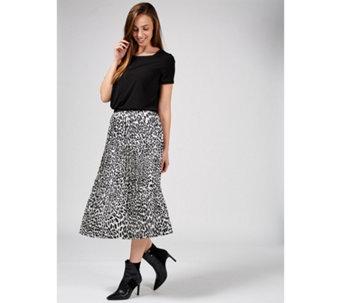 8c7288a237 Helene Berman Ink Print Pleated Midi Skirt - 176505