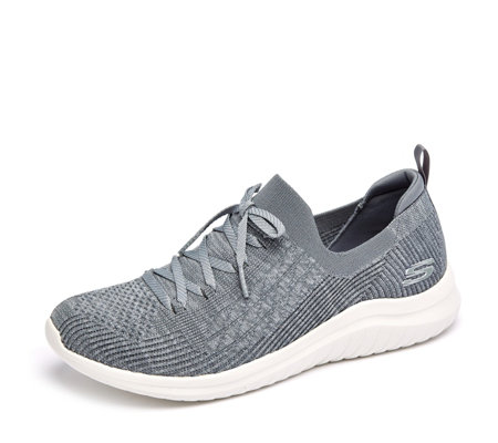 Skechers Ultra Flex 2 Flash Illusion Deco Lace Stretch Slip On Trainer