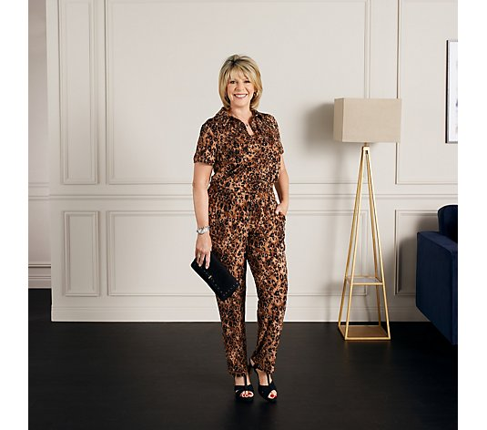 Ruth Langsford Jersey Knit Shirt Jumpsuit Regular