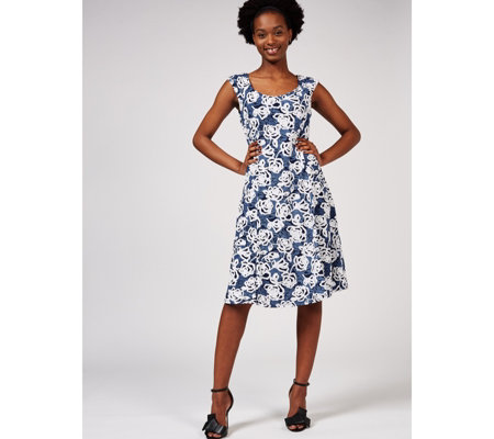 Ronni Nicole Sleeveless Printed Fit & Flare Dress
