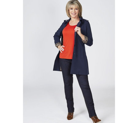 Ruth Langsford Straight Leg Jean with Pocket Detail Tall