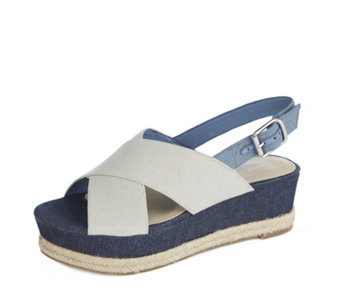 b029132304a Marc Fisher Flama Cross Front Low Wedge Sandal - 171306
