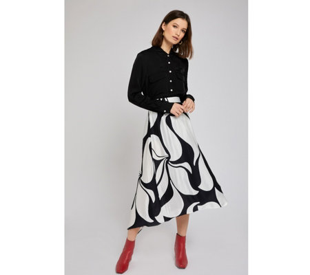 Ghost London Olivia Abstract Skirt