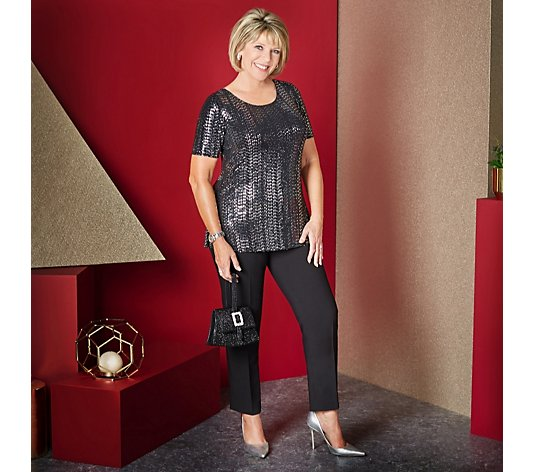 Ruth Langsford Classic Cigarette Trousers Tall