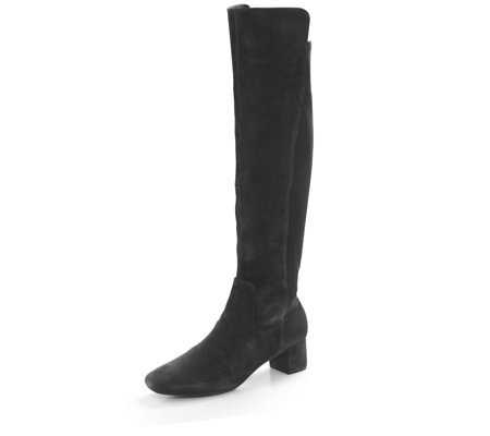 f22d208040a Clarks Tealia Over the Knee Boot with Block Heel - QVC UK