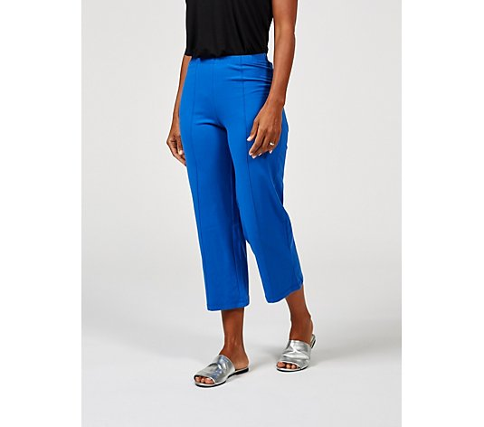 Outlet Women with Control Pull On Pintuck Detail Crop Trousers Petite