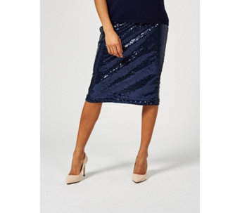 8fc30bd965ff6 Ben de Lisi Sequin Pencil Skirt - 177407