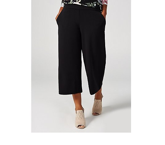 High Tech Crepe Elasticated Waist Culottes with Pockets by Nina Leonard