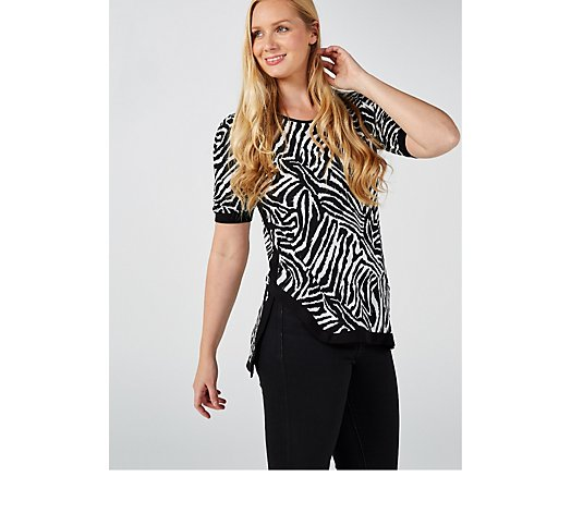 Outlet Coco Bianco Animal Print Top