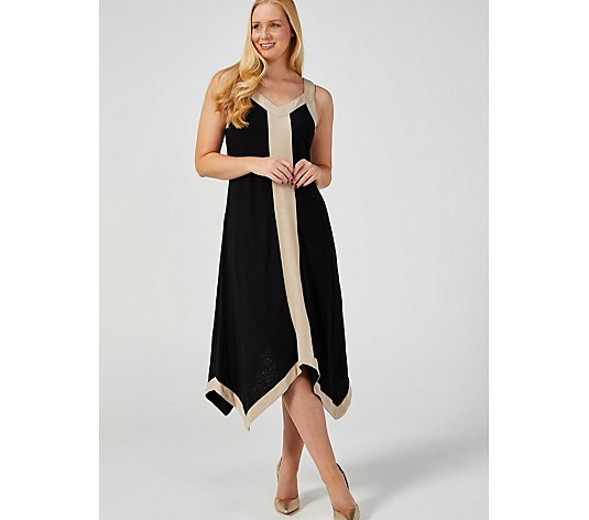 MarlaWynne Linen Jersey Handkerchief Hem Dress