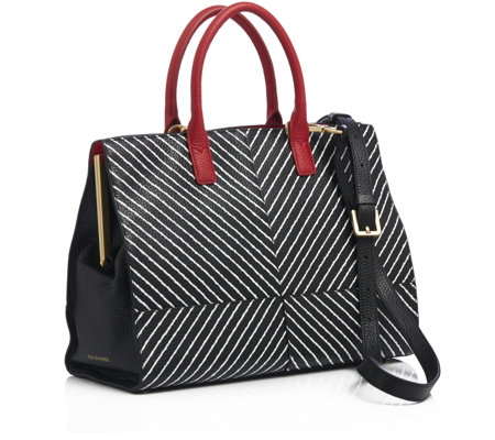 Lulu Guinness Daphne Medium Smooth Leather Tote Bag